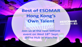 The Best of Tech and ESOMAR HK